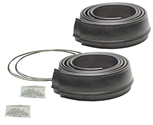Duty Reinforced Rubber Fender Extension Kit - 4 Piece: Automotive