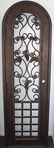 Wrought Iron Wine Cellar Gate (Swing Out Left) (Wine Cellar Door compare prices)