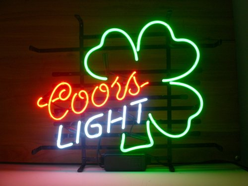 New Coors Light Shamrock Real Glass Neon Light Sign Beer Bar Pub Sign L06 by AOOS
