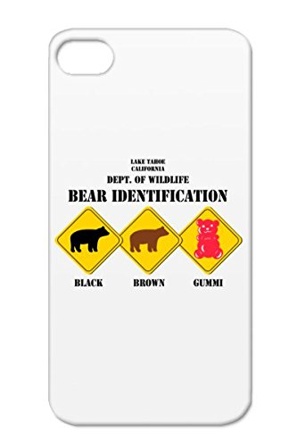 Gummi Bear Warning Tahoe Wildlife Wild Candy Animals Nature Skiing California Nature Outdoors Gold For Iphone 4S Tpu Protective Case