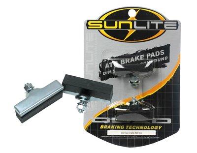 Buy Low Price Quad Bicycle Brake Shoes Caliper Stirrup Silver/Black (BK714BKB)