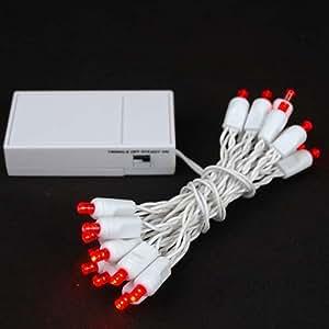 novelty lights inc bat20 led battery operated christmas mini light