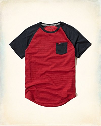 Hollister Co. ホリスター Textured Contrast T-Shirt [COLOR: レッド ][SIZE: M ] [並行輸入品]