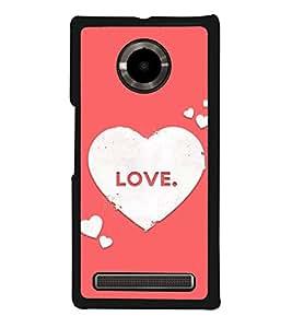 Love Hearts 2D Hard Polycarbonate Designer Back Case Cover for YU Yuphoria :: YU Yuphoria YU5010
