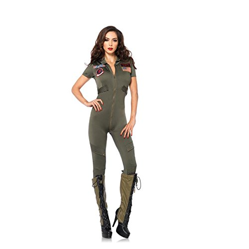 Female Top Gun Flight Suit Costume - up to XL