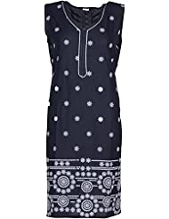 Elegant Cotton Women Kurta (20492yoy, Black, Free Size)