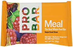 Probar Meal: The Real Whole Food Bar, Superfood Slam, 3 Ounces (12 Count)