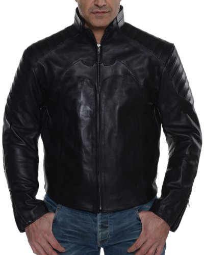 UD Replicas Batman Begins Movie Leather Street Jacket, Medium