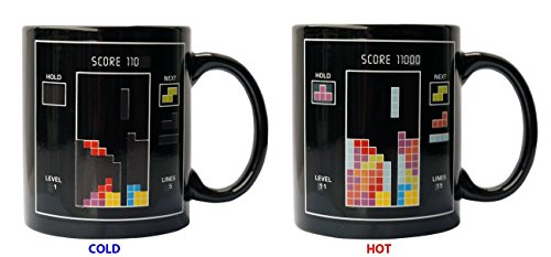 Magic Mug Coffee Tea Milk Hot Cold Heat Sensitive Color-changing Mug Cup (Tetris)