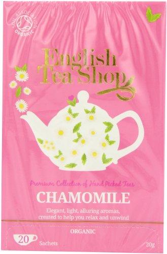 English Tea Shop Chamomile Organic 20 Sachet Teabags (Pack of 3, Total 60 Sachet Teabags)