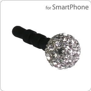 Plug Apli Crystal Ball Earphone Jack Accessory with Swarovski Crystal (Crystal)