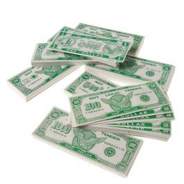 HMK Paper Play Money Game (1 Bills Per Package)