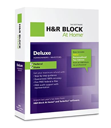H&#038;R Block At Home 2012 Deluxe + State