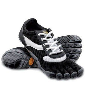 Vibram Fivefingers Mens Speed Black/White/Black Lace 45