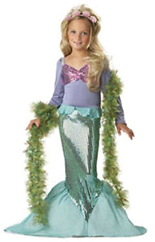 [POPLife Little Mermaid Ariel Child Girl Dress Up Costume] (Girls Light Up Witch Costume)