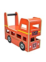 Kiddimoto Impulsor Original London Bus/ Walker & Ride On Rojo