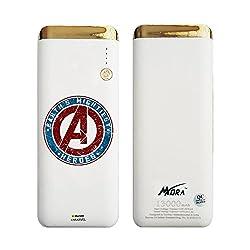 Hamee MORA x Marvel Licensed Power Bank With LED Torch (13000 mAh) (Avengers Logo)