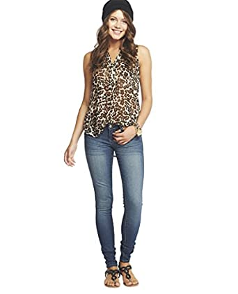 Wet Seal Women's Uptown Skinny Jean - Long 17 Authentic Indigo
