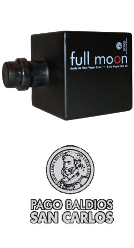 Full Moon Pago Baldios San Carlos- Award Winning Cold Pressed EVOO Extra Virgin Olive Oil, 2011-2012 Harvest, 17-Ounce Glass Bottle