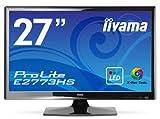 iiyama X-Res Tech.(超解像度技術)対応  ホワイトLEDバックライト搭載 27型ワイド液晶ディスプレイ ProLite E2773HS