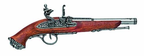 Denix Replica 18th Century Flintlock Non Firing Pistol Gun, Antique Gray