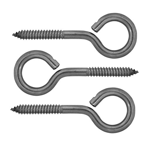 Lehigh 3/8 x 4-7/8 inch Stainless Steel Screw Eyes (3-Pack) (Stainless Steel Lag Eye Bolt compare prices)