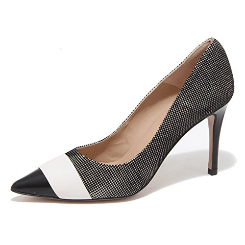 4740N decollete PURA LOPEZ scarpe donna shoes woman nero bianco [39]