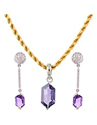 Mariya Impex Classic Collection Silver Pendant Necklace Set For Women