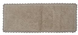 Crochet Bath Runner, 22 by 60-Inch, Linen