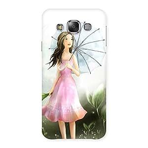 Umbrella Princess Multicolor Back Case Cover for Galaxy E7