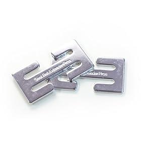 Metal Seat Belt Locking Clip - Pack of 2