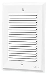 NuTone LA14WH Decorative Wired Two-Note Door Chime, Paintable, White Finish Grille
