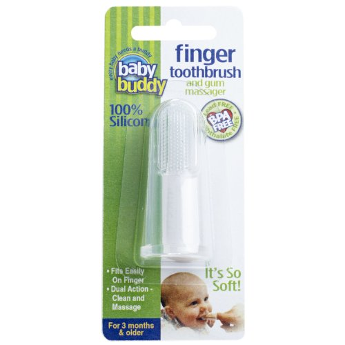 Baby Buddy Silicone Finger Toothbrush, Clear front-684392