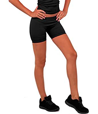 Women's Casual Active Seamless Neon Exercise Tight Fitted Mini Hott Gym Shorts