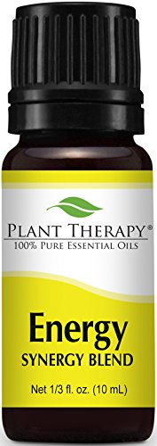Energy Synergy Essential Oil Blend (Physical Energy). 10 ml. 100% Pure, Undiluted, Therapeutic Grade. (Blend of: Peppermint, Rosemary, Lemon and Eucalyptus)