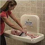 Koala Kare KB200-01 Baby Changing Station, Horizontal Wall Mounted Plastic - Gray
