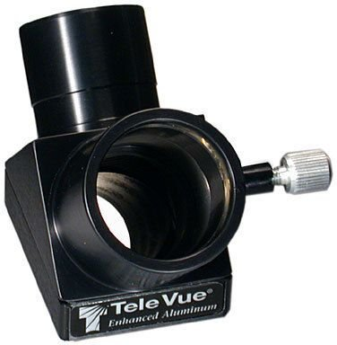 "Tele Vue 90° Enhanced Aluminum Mirror Diagonal 1.25"" With Brass Clamp Ring."