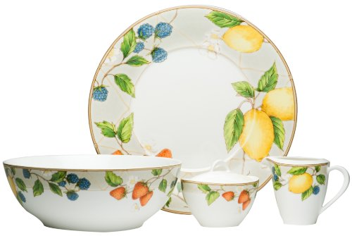 Red Vanilla Fruit Salad 5-Piece Completer Set (Red Vanilla Dishes compare prices)