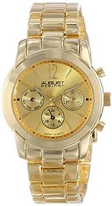 August+Steiner August Steiner Women's AS8087YG Analog Display Swiss Quartz Gold Watch