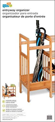 Honey-Can-Do SHO-02222 4-Tier Bamboo Entryway Organizer