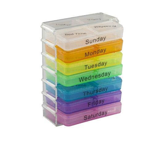 TRIXES Tablettenbox für Medikamente Pillen Kapsel mit Fächern für sieben Tage für die Reise