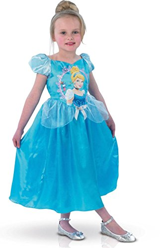 Classic Cinderella Large Girls Disney Princess Blue Fancy Dress Party Costume