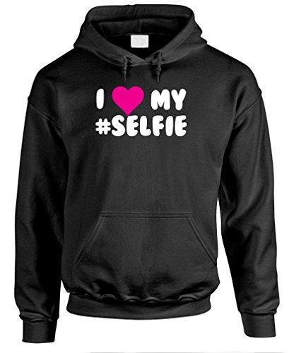 I Love My Selfie - Funny Meme Song Pullover Hoodie, S, Black