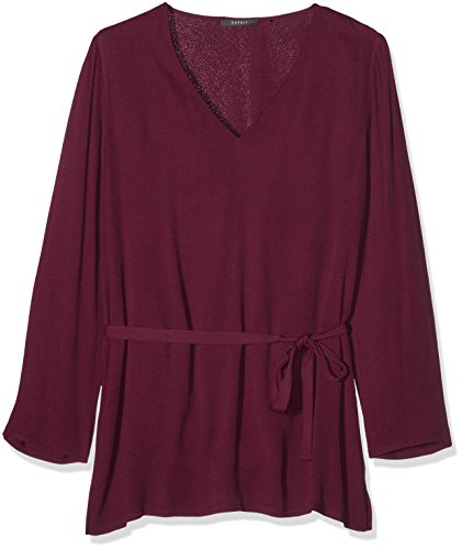 ESPRIT Collection 106EO1F005, Camicia Donna, Rosso (Bordeaux Red), 40
