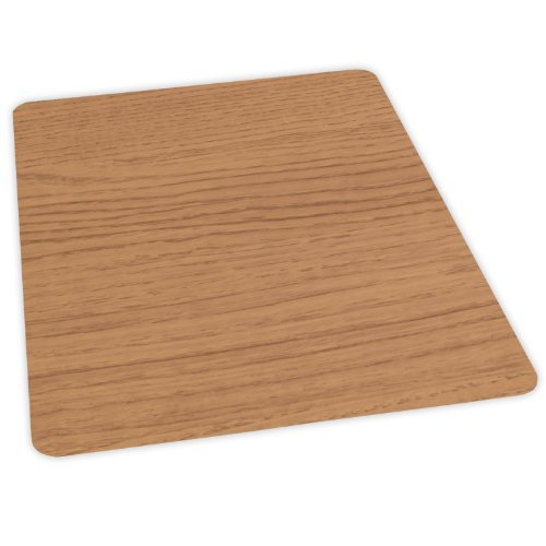 Es Robbins Wood Veneer Style Rectangle Chair Mat For Hard Floors, 36 By 48-Inch, Natural front-1002969