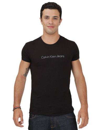 Calvin Klein Cmp77a-j1200-999 Skinny Black Man T-shirts Make Men - Xl