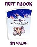 Face Painting Kit For Parties (Paints 50 - 80 Faces) FDA Compliant, Non-Toxic Paint - 8 Vibrant Colors, 24 STENCILS, 2 Shimmering Glitter Gels, 2 Versatile Brushes, 2 Sponges, 1 Foam Applicator