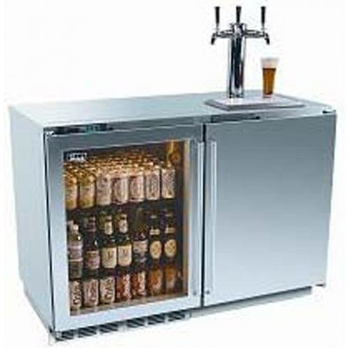 Ordertoday perlick hp48rt s 3l 1r3 refrigerator triple tap kegerator glass left door Home bar furniture with kegerator