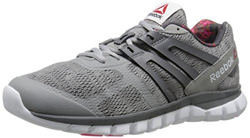 Reebok Women's Sublite XT Cushion MT Running Shoe, Gold Plated/Tin Grey/Shark/Solar Pink/White, 9 M US (Reebok Running Shoes Women compare prices)