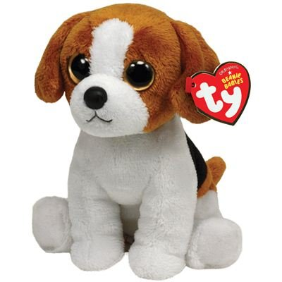 Ty Beanie Baby Banjo Plush - Beagle